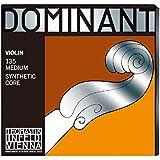 Thomastik Corde per Violino Dominant nucleo di nylon, set 4/4 medium, Mi in acciaio rivestimento alluminio