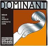 Thomastik Saiten für Violine Dominant Nylonkern, Satz 4/4 Mittel, E Stahlkern, Alu. Umsponnen