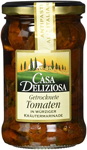 Feinkost Dittmann Casa Deliziosa Getrocknete Tomaten in Kräutermarinade, 3er Pack (3 x 275 g)