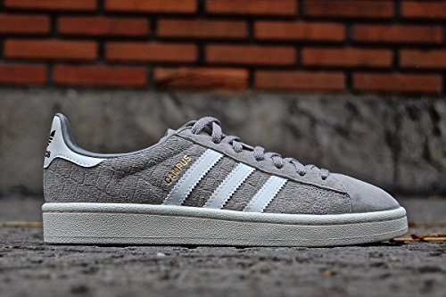adidas Damen Campus Sneaker, Grau (Mgh Solid Grey/Footwear White/Gold Metallic), 38 EU (Lace Vinyl Tops Up)