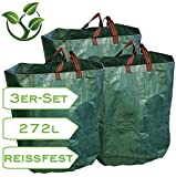 3er-Set Gartensack 270 Liter für Laub und Grünschnitt