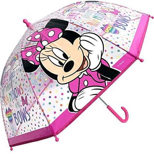 Paraguas Transparente Manual Paraguas Infantil Paraguas Niña Paraguas Minnie Rainbow 45cm