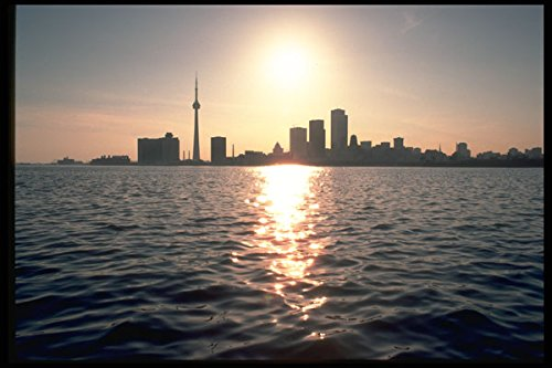 288046 Toronto Skyline And CN Tower A4 Photo Poster Print 10x8