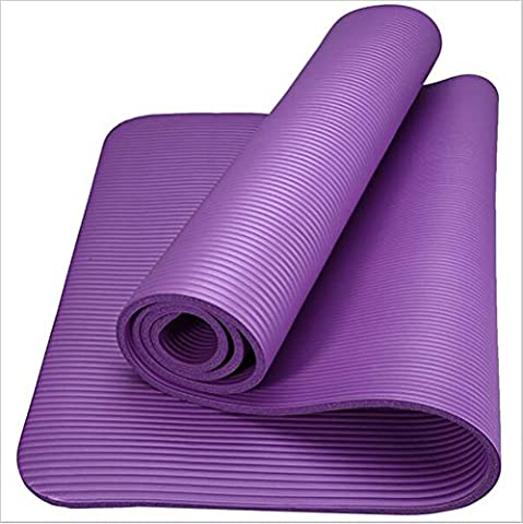 Hydra Yoga Mat,183cm x 61cm(72inch x 24inch),10mm Thick Exercise Fitness Workout Exercise Mat in Red/Green/Purple/Blue,also Ideal as Camping