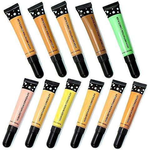 AMBITO Kosmetik Pro Concealer High Definition Concealer Voller Deckung Hochpigmentierte Creme Concealer Makeup Cover Foundation Concealer - ALLE(11 Stück)