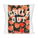 Chill Out Floral Texture Pillow