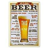 Vintage Poster Birre Metallo Arredo Murale Decoro Pub Bar Cafe Casa 20x30cm