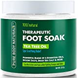 Pure Body Naturals Foot Soak With Tea Tree Oil And Epsom Salt - 20 Oz - Tea Tree Essential Oils Foot Bath Fights Fungus & Bacteria, Soothes Aches & Pains & Helps Soften Corns & Calluses (1 Pack)