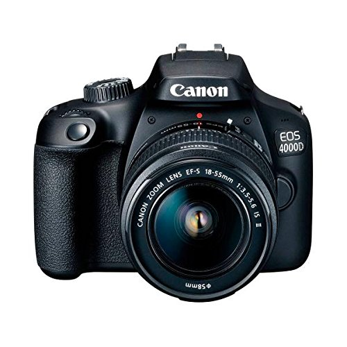 Canon Kit EOS 4000D CÁMARA Reflex 18MP Full HD DIGIC4+ WiFi + Objetivo EF-S 18-55mm + Bolsa DE...
