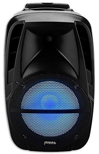 Ibiza btm15a-led altavoz Active luminosa 500W