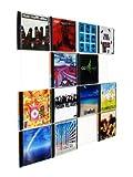 Farbige Design CD-Wand / CD Wanddisplay / CD Wandregal / CD Wandhalter / CD Halter - CD-Wall Square 4x4 Farbe: signalweiß für 16CDs zur sichtbaren Präsentation Ihrer Lieblings Cover an der Wand