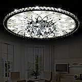 Addison Runde Wohnzimmer LED Kristall Deckenleuchte, moderne, minimalistische Atmosphäre europäische Lobby Restaurant Kristall Lampe, 15W, Durchmesser 43cm Hoch 17cm
