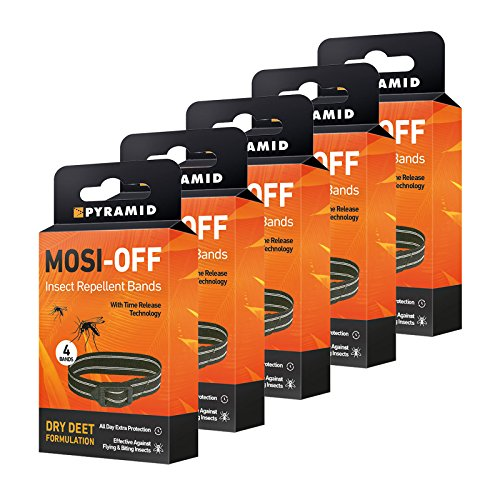 8 Bands Pyramid Mosi-Off Insect Repellent Bands 4 Pack 2 Packs