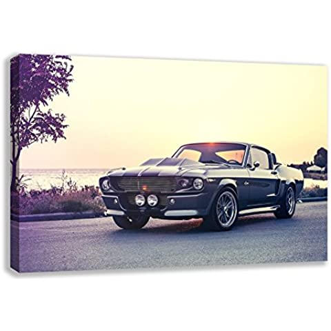 1967 Ford Mustang Shelby Cobra GT500 Eleanor del arte de la pared de la lona, 44X26