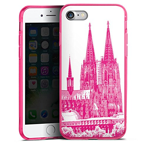 Apple iPhone 8 Silikon Hülle Case Schutzhülle Köln Dom Kirche Kölner Dom Silikon Colour Case pink