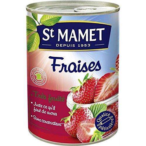 St Mamet Fraises au sirop 425g - ( Prix Unitaire ) - Envoi Rapide Et Soignée