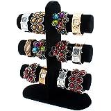H&S® Velvet 3 Tier Bangle Watch Bracelet Jewellery Display Stand Box Case - T