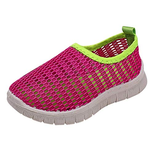 Krabbelschuhe Lauflernschuhe Candy Farbe Sport Schuhe Run Turnschuhe Freizeitschuhe Laufschuhe Outdoor Fitnessschuhe (22.5 EU, Hot Pink) ()