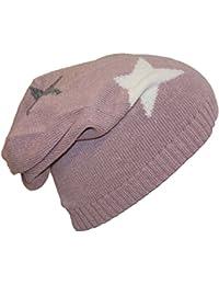 50df89b1ec7f74 Prinidor Slouch-Beanie-Mütze mit Sterne & Kaschmir -hochwertige Strickmütze  für Damen Mädchen