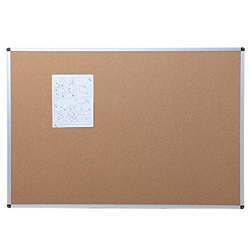 VIZ-PRO Tableau d'affichage en liège, Cadre en Aluminium 110 x 75 cm