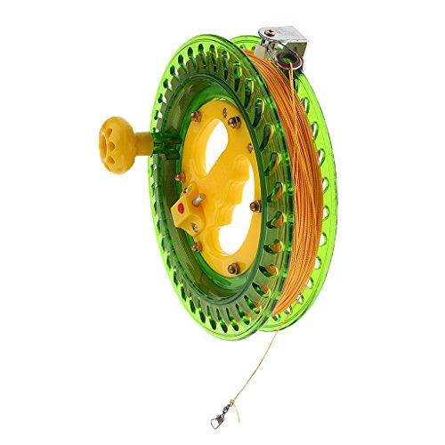 B Blesiya 450 M Winder Reel Angelrolle Seilrolle für Kite und Angeln, aus Kunststoff