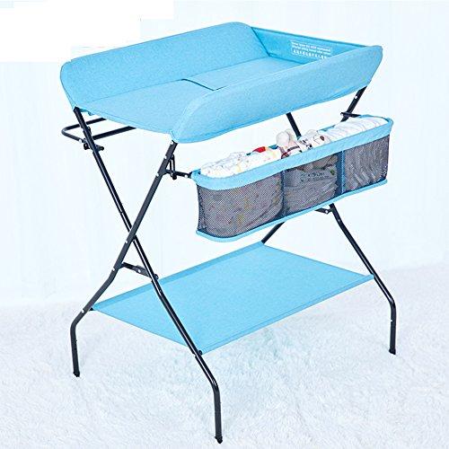 Baby Diaper Table Table De Massage Nursing Desk Nouveau-Né Bébé Dressing Table Tactile Ascenseur Pliable,Blue