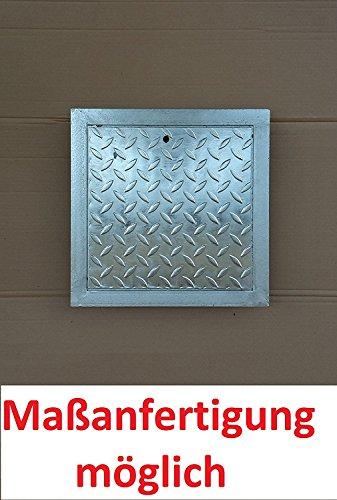 Schachtabdeckung Kanalabdeckung Stahl verzinkt begehbar 80 x 80 cm Trändenblech Kanaldeckel mit Rahmen Gullydeckel, Brunnendeckel mit Rahmen Schachtdeckel NEU -