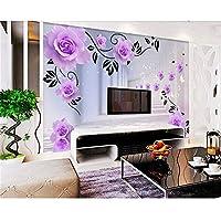Lieblich Qbbes Tapeten Wohnkultur Schallschutz Dekoration 3D Tapete Lila Rose  Reflexion 3D Stereo Tv Hintergrund Wände