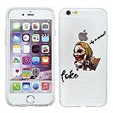 iPhone 5/5s Marvel Cassa del Silicone Fumetto / Copertura del gel per Apple iPhone 5s 5 SE / Protezione dello Schermo e Panno / iCHOOSE / Joker