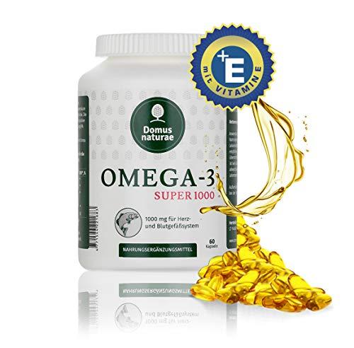 OMEGA-3 SUPER 1000 MG, 60 Kapseln, empfiehlt man besonders für die Menschen, die Nahrung welcher an Fisch arm ist.