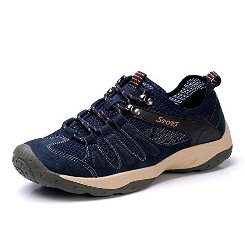 UBFen Uomo Scarpe Sportive Trekking Scarpe da Escursionismo Arrampicata Sneakers all'aperto Marrone Blu A Blu