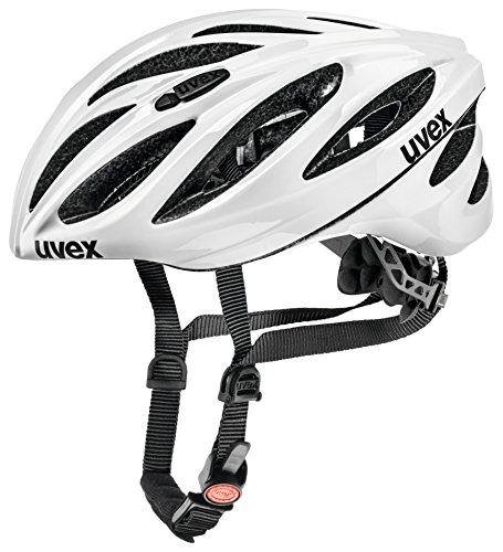 Uvex Erwachsene Radhelm Boss Race, White, 55-60, 4102201117