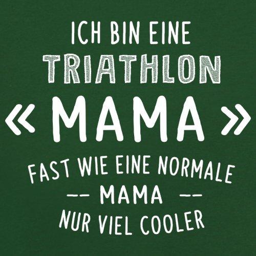 Ich bin eine Triathlon Mama - Herren T-Shirt - 13 Farben Flaschengrün