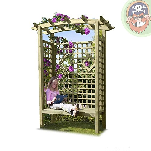 Gartenbank Holz Pergolensitz Arkaden-Gartensitz Gartenlaube von Gartenpirat® - 3