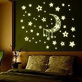 TOYMYTOY Fluoreszierend Sternenhimmel Wandaufkleber Sticker Leuchtaufkleber Leuchtsticker für Kinderzimmer Schlafzimmer