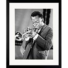 "G&C de diseño 0341CPP con imagen de marco de fotos de ""Miles Davis"", 40 x 50 cm, colour negro"