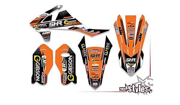 Race Styles Aufkleber Kompatibel Mit Ktm Sx 85 2003 2012 Factory Dekor Decals Kit Aufkleber Graphics Auto