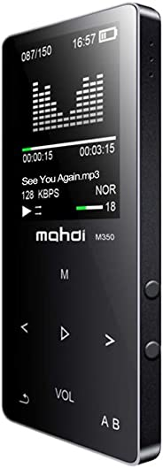 Mahdi 8GB Bluetooth MP3 Player HiFi Metal Music Player Loseless APE FLAC Audio Player Built-in Speaker FM Radio Voice Recordi