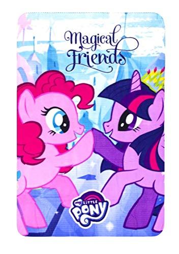 hochwertige Mikrofaserdecke Fleecedecke Kinder Hasbro My Little Pony Decke Wohndecke Fleece Mikrofaser Weich Sanft kuschelig tolles Geschenk für Mädchen (Pony 02) ()