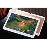 """NEW 4G LTE 10"""" Tablette Tactile 1920 x 1200 IPS Octa Core,2 Go de RAM, disque dur 32 Go,8.0 MP Dual SIM Phone Call Android 7.0(Or Rose)"""