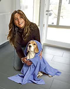Karlie 16475 Poncho pour chien, taille L, 70 x 70 cm (Bleu)