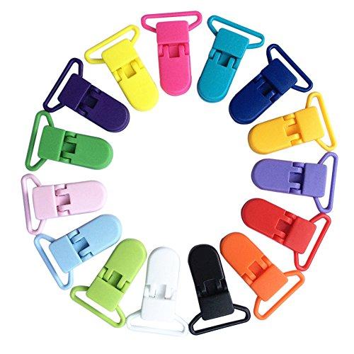 Everpert - 10 clips de plástico para chupete de bebé