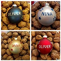 Tannenbaumkugel Weihnachtskugel mit Wunschname