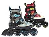 L.A. Sports Inliner Skate Canvas Softboot Kinder Jugend Damen Größenverstellung 5 Größen verstellbar 29-33/33-37/37-41