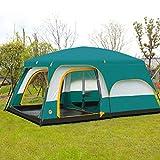 J.SPG Zwei Zimmer und EIN Wohnzimmer Zelt Im Freien Camping 6 Personen, 8 Personen, 10 Personen, 12 Personen Regenfest Winddicht Picknick Bergsteigen Grün