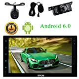 Externes Mikrofon + Android 6.0 2Din Car Stereo 7-Zoll-Touch-Screen-Auto-PC-Spieler mit Bluetooth wifi 3G / 4G GPS Navigation USB / SD-Spiegel-Link Parksystem Autoradio F¨¹gen Front & R¨¹ckfahrkamera