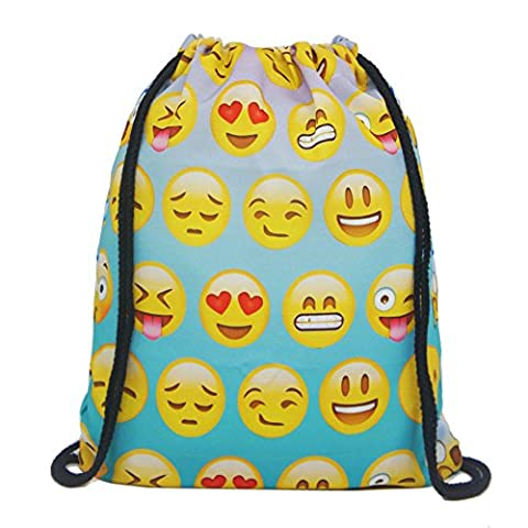 Artone Emoji Sac De Cordon Voyager Daypack Des Sports Portable