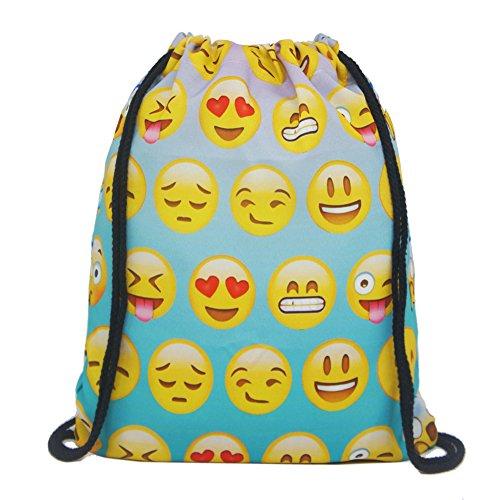 Imagen de artone emoji polyester con bolso viajar daypack deportes portátil  gradiente