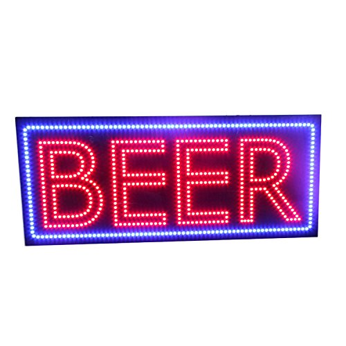 LED Schild Bier Bar Wein-Likör S...