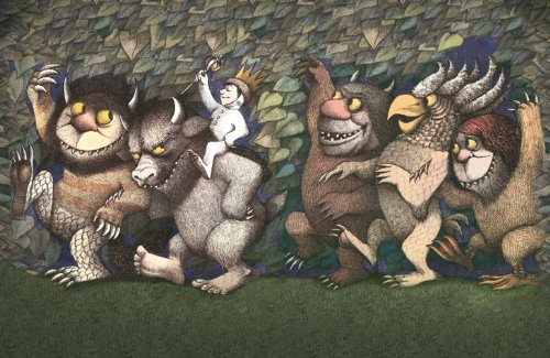 The Art Group Maurice Sendak (Let the Wild Rumpus Parts Toolkit Start Iii) – Leinwanddruck 30 x 40 cm, Holz, mehrfarbig, 30 x 40 x 1,3 cm